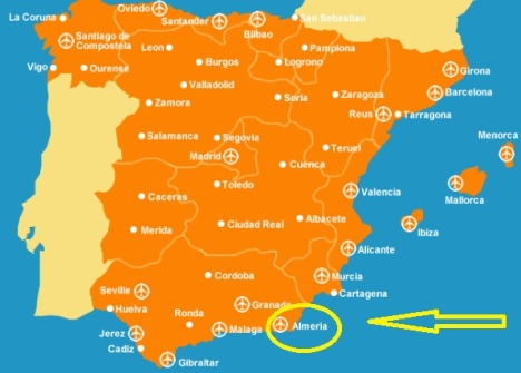 British expats in Spain map