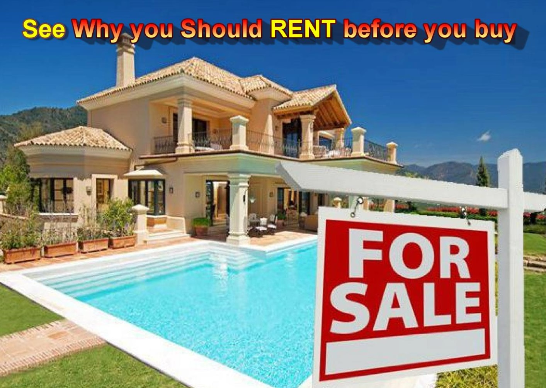 Rent in spain before you buy